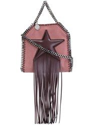 Stella Mccartney Tiny 'Falabella Fringed Star' Tote Pink And Purple