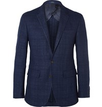 Polo Ralph Lauren Navy Slim Fit Tweed Blazer Blue