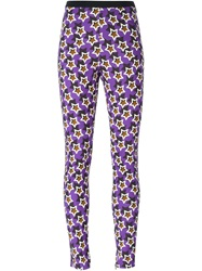 Emanuel Ungaro Star Print Leggings Pink And Purple