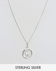 Reclaimed Vintage Sterling Silver Gemini Zodiac Necklace Silver