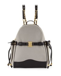 Uni Colorblock Leather Backpack Gibson Noir Sjp By Sarah Jessica Parker