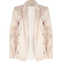River Island Womens Light Pink Satin Blazer