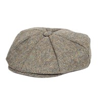 Dents Mens Eight Piece Cap Abraham Moon Tweed Spruce