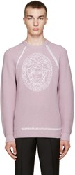 Versace Purple Medusa Sweater
