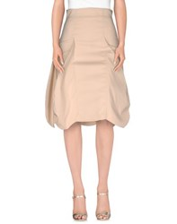 Frankie Morello Skirts 3 4 Length Skirts Women Beige
