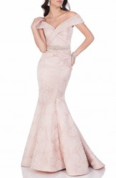 Terani Couture Women's Embellished Floral Jacquard Mermaid Gown Blush