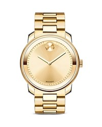 Movado Bold Ion Plated Stainless Steel Watch 42.5Mm Gold