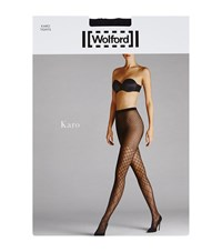Wolford Karo Triangle Grid Tights Female Navy