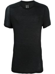 Rick Owens Twisted Edge T Shirt Black