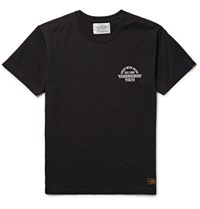 Neighborhood Lim Fit Printed Cotton Jerey T Hirt Black