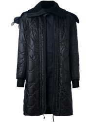 Sacai Quilted Oversized Parka Blue