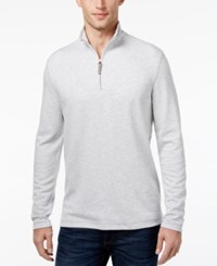 Tasso Elba Men's Quarter Zip Up Pullover Only At Macy's Grey Combo