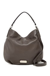Marc By Marc Jacobs New Q Hillier Leather Hobo Faded Aluminum