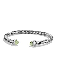 Cable Classics Bracelet With Prasiolite And Diamonds David Yurman