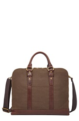 Fossil 'Dillon' Canvas Briefcase Brown