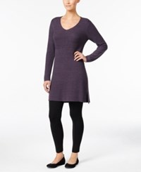 Styleandco. Style Co. V Neck Tunic Sweater Only At Macy's Dark Grape