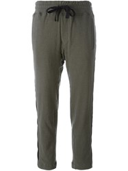 Haider Ackermann Lateral Stripe Cropped Track Pants Green