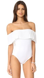 Karla Colletto Josephine Off Shoulder Maillot White