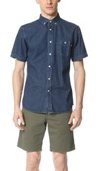 Obey Keble Short Sleeve Shirt Indigo