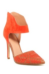 Sigerson Morrison Galicia Ankle Strap Pump Red