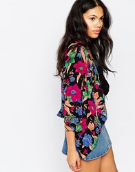 Mela Loves London Floral Jacket Multi