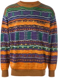Kenzo Vintage Fair Isle Knit Jumper Multicolour