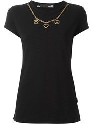 Love Moschino Chain Detail T Shirt Black