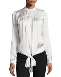 Philosophy Long Sleeve Tie Front Tunic Ice Reflection
