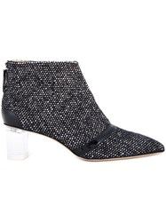 Jerome Rousseau 'Schofield' Tweed Ankle Boots Black