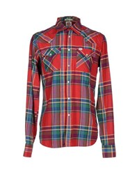 Franklin And Marshall Shirts Shirts Men Red