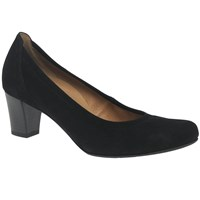 Gabor Creative Wide Block Heeled Court Shoes Black