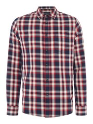 Criminal Hayden Multi Check Shirt Red