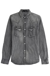 The Kooples Denim Shirt Grey