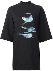 Y 3 High Neck Oversized T Shirt Black