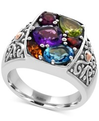 Effy Multi Gemstone Statement Ring 3 Ct. T.W. And In Sterling Silver