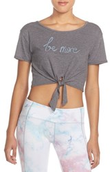 Women's Free People Knotted Graphic Tee Washed Black