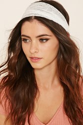 Forever 21 Sheer Lace Headwrap