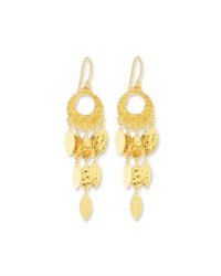 Gurhan Cascading Willow Drop Earrings In 24K Gold