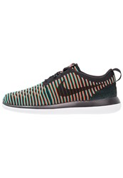 Nike Sportswear Roshe Two Flyknit Trainers Black Bright Crimson Clear Jade White