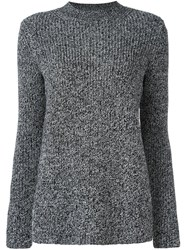 Carven Ribbed Crew Neck Jumper Black
