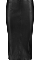 Iris And Ink Annabelle Leather Pencil Skirt Black