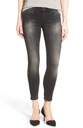 Women's Mavi Jeans Gold 'Alexa' Stretch Ankle Skinny Jeans Black Used Gold