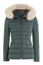 Peuterey Quilted Down Jacket With Fur Trimmed Hood Gr. It 38