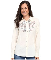 Ariat Hatch Snap Shirt Ivory Women's Clothing White