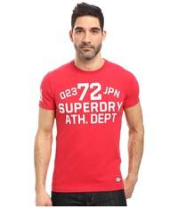 Superdry Trackster Short Sleeve Tee Indiana Red Men's T Shirt