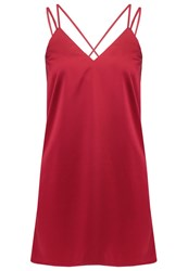 Missguided Petite Cocktail Dress Party Dress Burgundy Dark Red