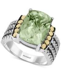 Effy Collection Balissima By Effy Green Amethyst 5 3 4 Ct. T.W. Ring In 18K Gold And Sterling Silver