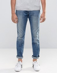 Wrangler Boston Slim Jeans First Wave Blue