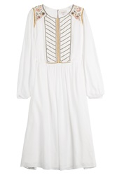 Paul And Joe Embroidered Dress White