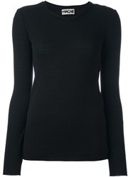 Hache Ribbed Trim Jumper Black